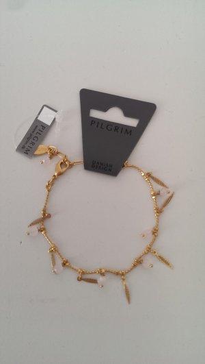 Neu Zartes vergoldetes Armkettchen von PILGRIM