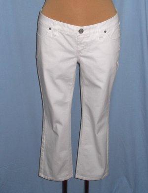 Zero Jeans a 7/8 bianco Cotone