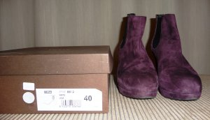 NEU ZINDA  Stiefelette  Wildleder Chelsea Boots dunkelrot Gr. 40