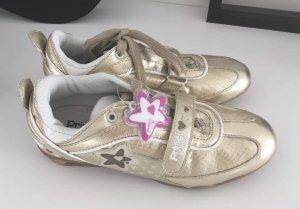 Neu zuckersüße Primigi Girls Sneaker Halbschuhe Schuhe gold 33