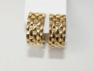 neue 22 karat vergoldete Ohrringe Netz Clipse