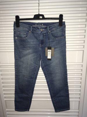 Vila Jeans 3/4 bleu-bleu acier