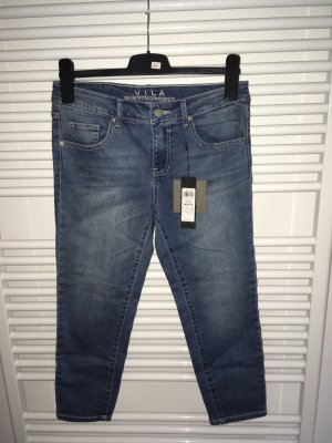 Vila 3/4-jeans blauw-staalblauw