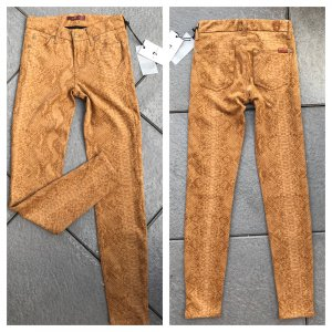 Neue 7 for all Mankind Hose 24 / XXS Camel Schlange Skinny