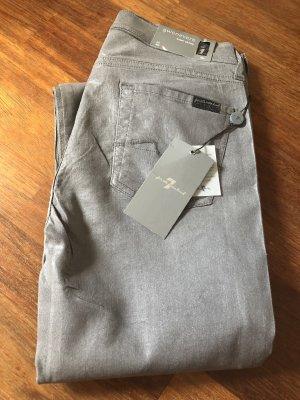 7 For All Mankind Jeans skinny argenté-gris clair