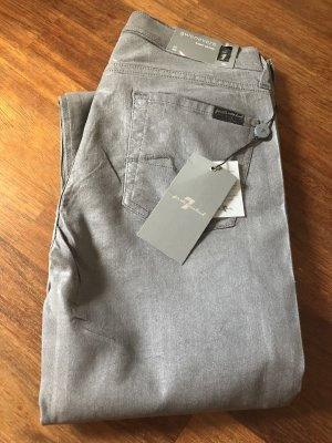 Neue 7 for all Mankind Jeans hellgrau 26