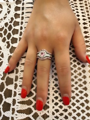 Neue 925 silber 3 teile Ring