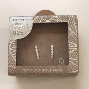 Neue 925 Silber Stecker Ohrringe