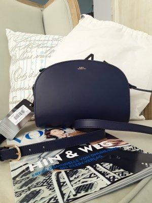 A.P.C. Sac bandoulière bleu cuir