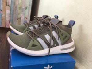 Adidas Lace-Up Sneaker green grey-white