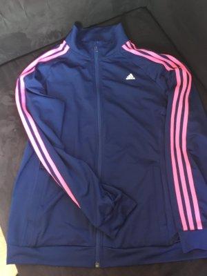 Neue Adidas Jacke (L) in der Farbe dunkelblau & neon Pink