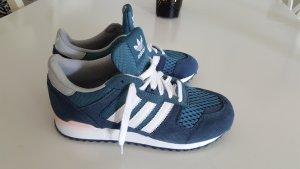 Adidas Basket à lacet rosé-bleu