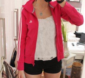 Adidas Veste sweat rouge fluo-blanc