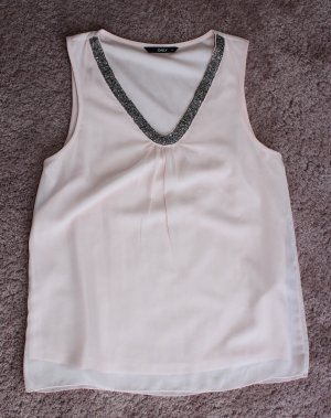 Only Blusa sin mangas rosa-color plata