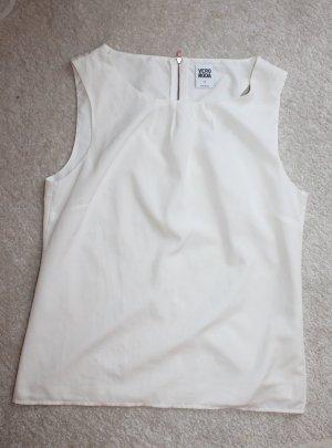 Neue ärmellose Bluse in weiß