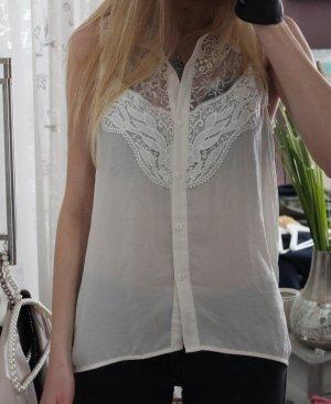• Neue ärmellose Bluse mit Spitze
