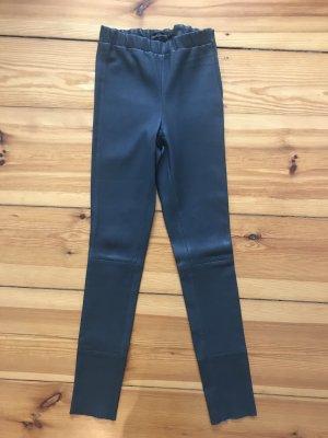 Arma Collection Pantalón de cuero gris