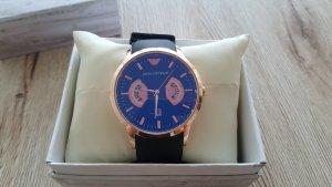 Armani Horloge zwart-donkerblauw