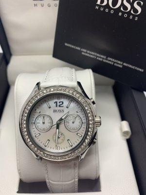 Neue Armbanduhr Damen Hugo Boss Chrono Lederarmband
