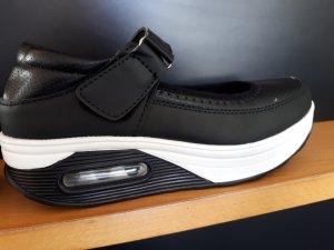 Klittenband Sportschoenen zwart-wit Gemengd weefsel