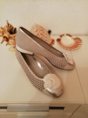 Milano Ballerinas silver-colored leather