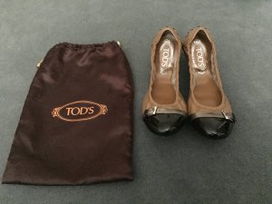 Tod's Foldable Ballet Flats light brown-black leather