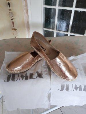 Jumex Ballerine à bride arrière or rose