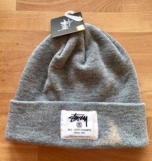 Stüssy Beanie grey synthetic fibre