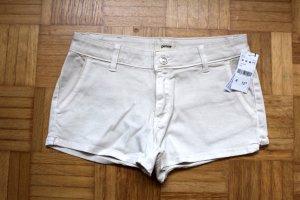 Neue beige Stoff Shorts