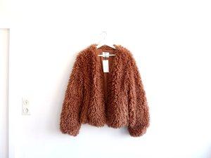 neue Bershka Teddyjacke Gr. L 38 40 oversized fake fur