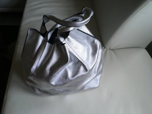 Madeleine Pouch Bag light grey leather