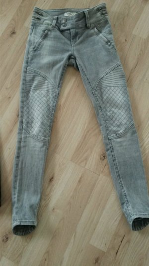 LTB Biker jeans lichtgrijs Katoen