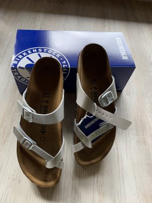 Birkenstock Toe-Post sandals silver-colored