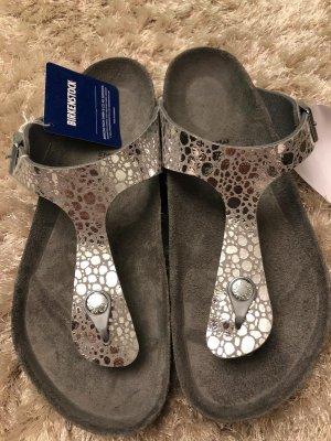 Birkenstock Sandales Dianette gris clair-argenté