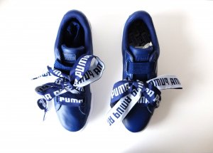 neue blau weiße Puma Basket Heart Gr. 40,5 blau weiß uk 7 Leder
