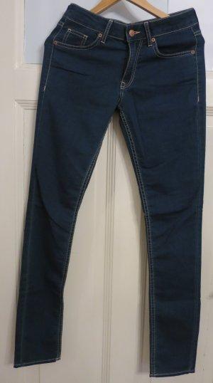 H&M Divided Pantalone a sigaretta blu-blu acciaio Cotone