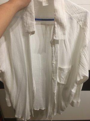 H&M Blouse en lin blanc cassé