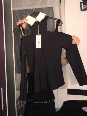 Cols de blouses blanc-noir