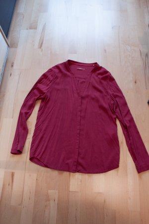 NEUE Bluse edc - Weinrot - L