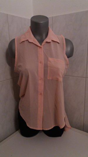 Mouwloze blouse roze