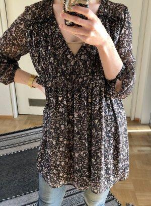 Zara Camicetta lunga nero-rosa antico