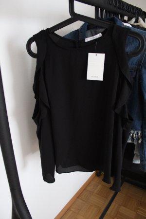 Neue Bluse mit Schulterausschnitt und Rüschen