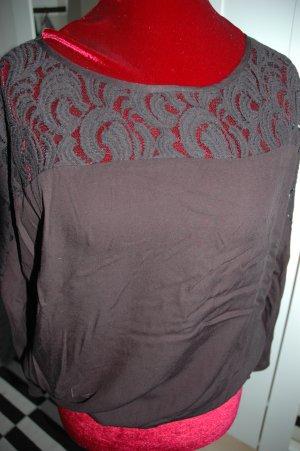 Vero Moda Kanten blouse zwart