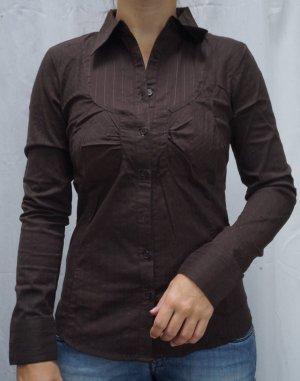 NEUE Bluse Vero Moda, Gr. S, braun Seidenfäden, Langarm, NP 39€