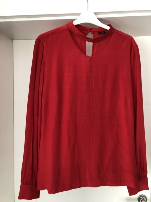 Comma Blouse à enfiler rouge brique viscose