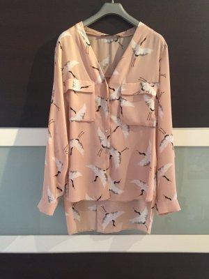 Zara Camicetta a blusa color carne-crema