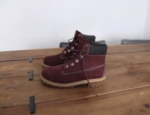 Neue Bordeaux Rot farbende Timberland Boots Größe 38