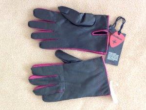 Neue, braun/pinke Lederhandschuhe 8,5 (Strellson)
