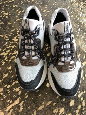 NEUE Bronx Schuhe Silber Hellblau Weiß