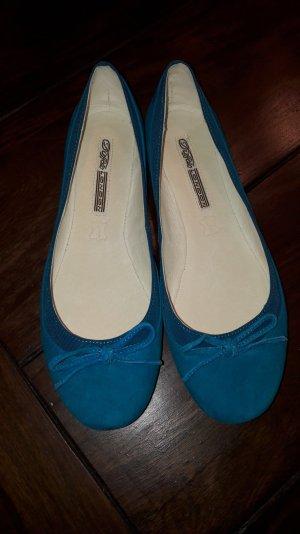 Buffalo London Ballerines bleu clair cuir